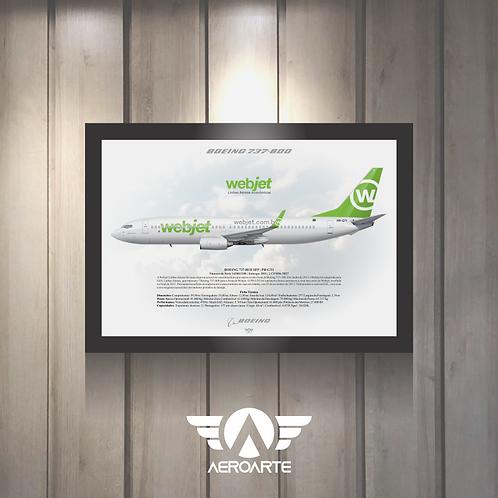 Pôster Perfil Boeing 737-800 WEBJET