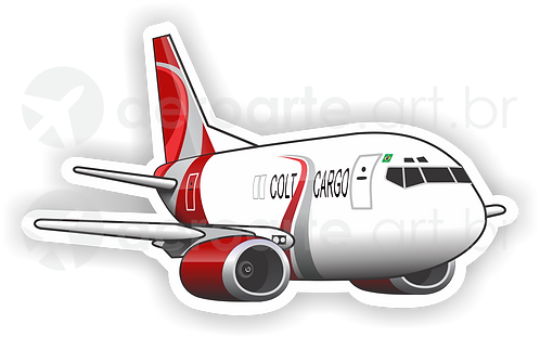 Adesivo Silhueta Boeing 737-400F Colt Cargo