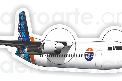 Adesivo Silhueta Fokker 50
