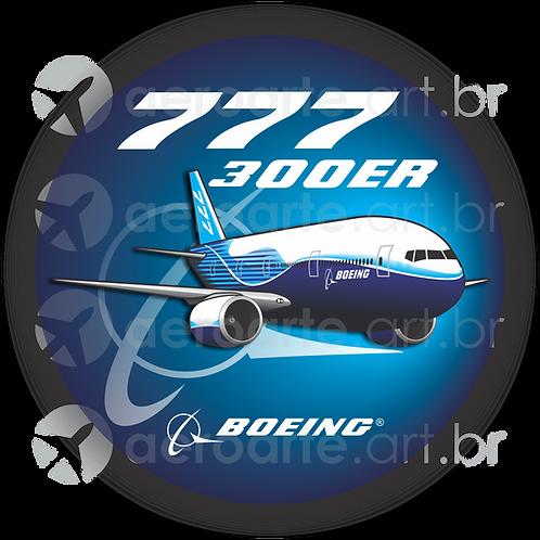 Adesivo Bolacha Boeing 777-300ER