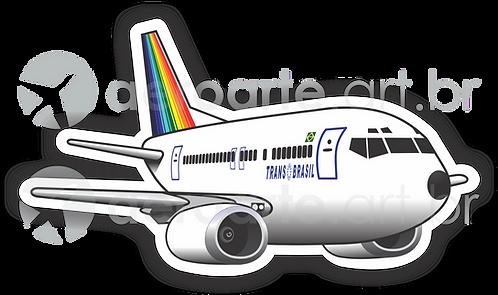Adesivo Silhueta Boeing 737-400 Transbrasil 1ª Pintura