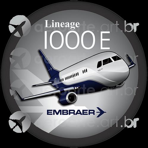 Adesivo Bolacha Embraer Lineage 1000E