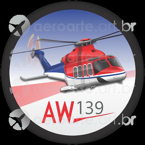 Adesivo Bolacha AW139