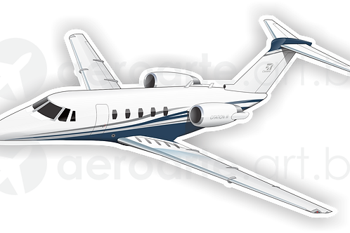 Adesivo Silhueta Cessna Citation III