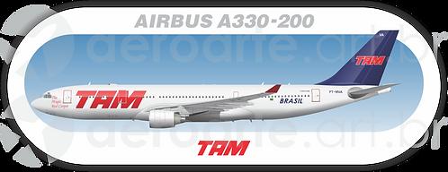 Adesivo Perfil AIRBUS A330-200 TAM