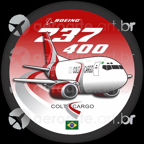 Adesivo Bolacha Boeing 737-400F Colt Cargo