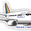 Thumbnail: Adesivo Silhueta Boeing 737-400 Transbrasil 1ª Pintura