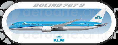 Adesivo Perfil Boeing 787-9 KLM