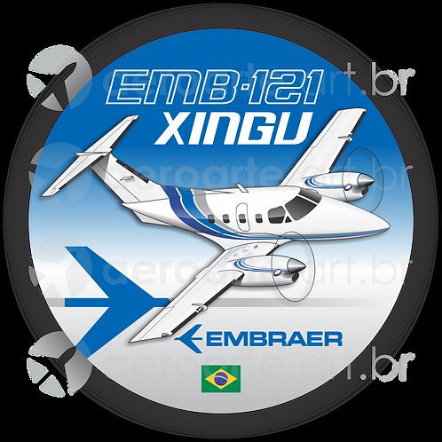 Adesivo Bolacha EMB-121 XINGU