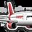 Thumbnail: Adesivo Silhueta Airbus A320 NEO Avianca Brasil