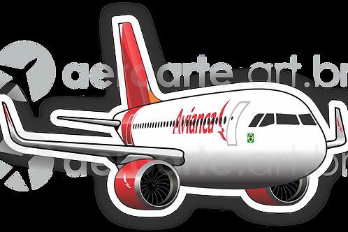 Adesivo Silhueta Airbus A320 NEO Avianca Brasil