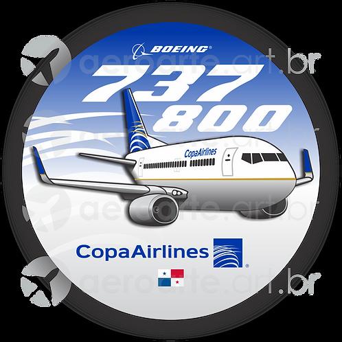 Adesivo Bolacha Boeing 737-800 Copa