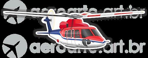 Adesivo Silhueta Sikorsky S-76
