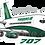 Thumbnail: Adesivo Silhueta Boeing 707 TUPIARANGA IAR
