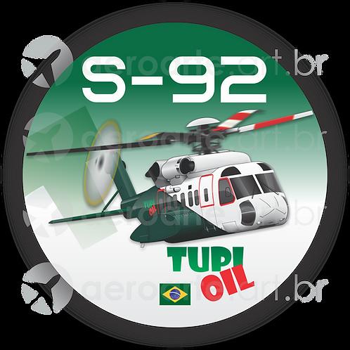 Adesivo Bolacha Sikorsky S-92 Tupi Oil