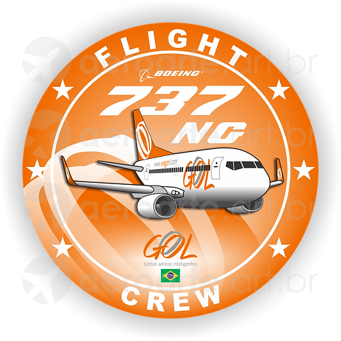 Adesivo Bolacha Boeing 737NG Gol 1ª Pintura (promoção)
