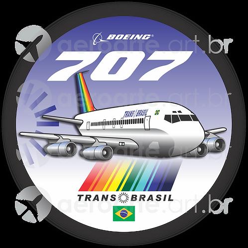 Adesivo Bolacha Boeing 707 Transbrasil