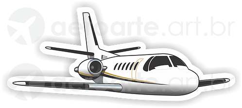 Adesivo Silhueta Cessna Citation Bravo