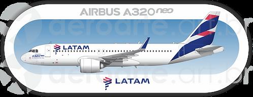 Adesivo Perfil Airbus A320 NEO LATAM