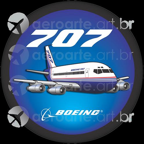 Adesivo Bolacha Boeing 707