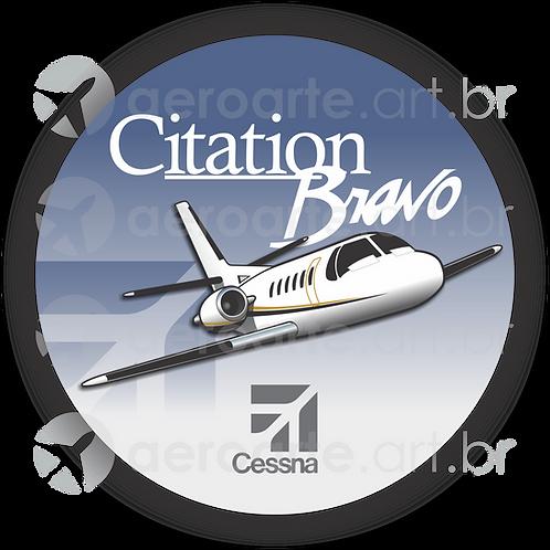 Adesivo Bolacha Cessna Citation Bravo
