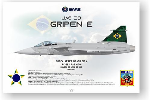Pôster Perfil F-39E GRIPEN FAB