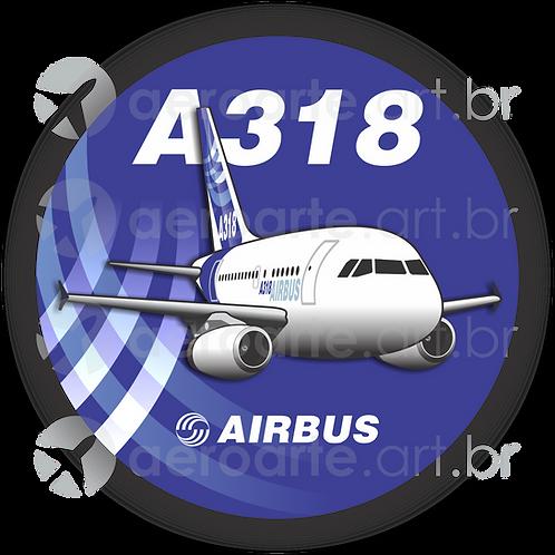 Adesivo Bolacha Airbus A318