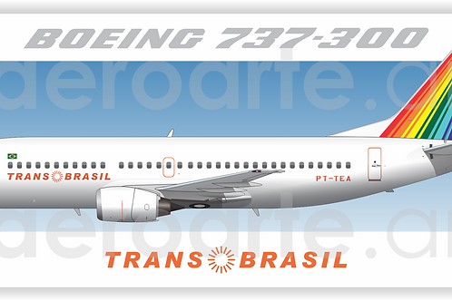 Adesivo Perfil Boeing 737-300 TRANSBRASIL
