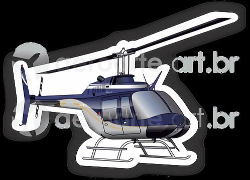 Adesivo Silhueta Bell Jet Ranger III