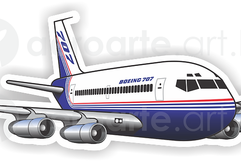 Adesivo Silhueta Boeing 707