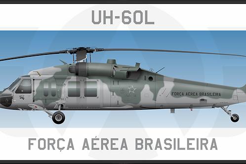 Adesivo Perfil UH-60L BLACKHAWK FAB