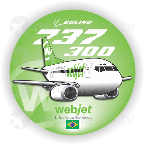 Adesivo Bolacha Boeing 737-300 Webjet