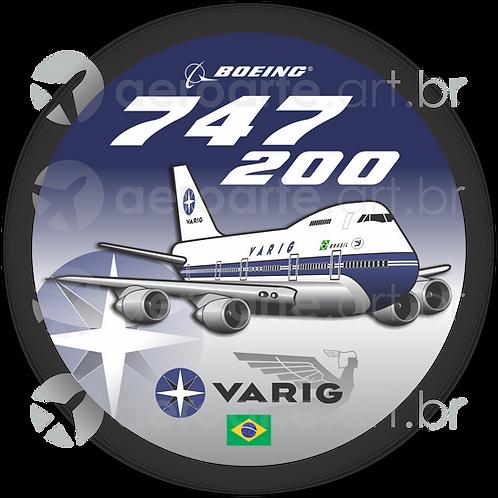 Adesivo Bolacha Boeing 747-200 VARIG