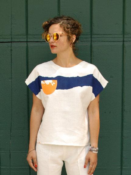 Hang Loose T-Shirt / Wave Print