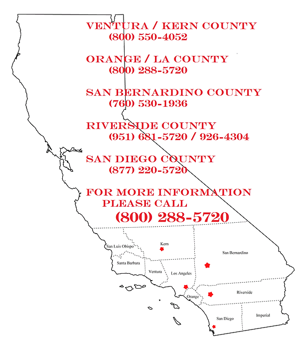 Office locations mapped in California