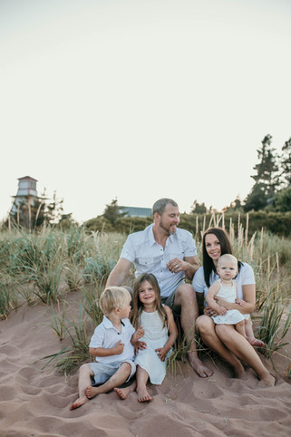 Family shoot in Prince Edward Island