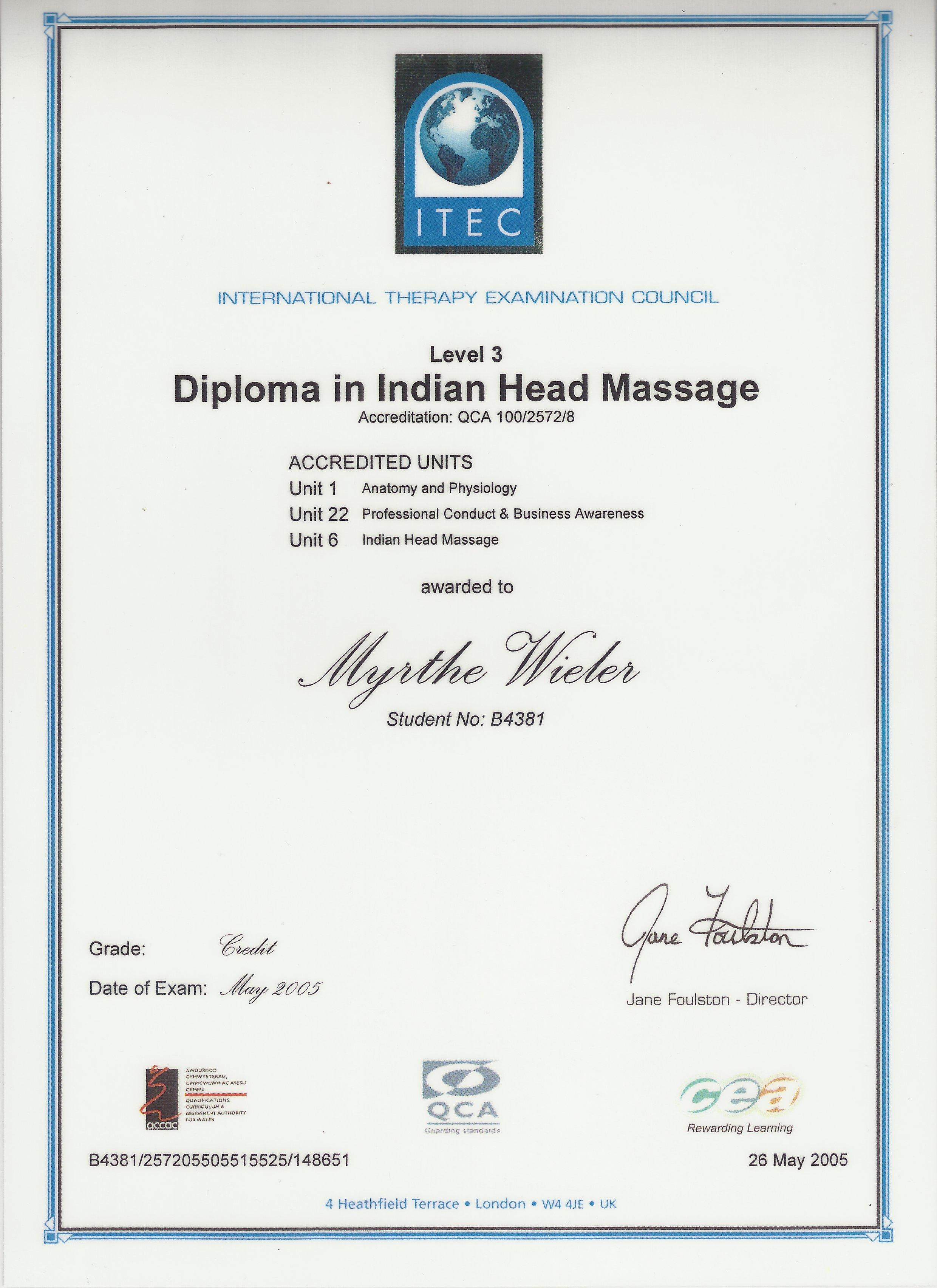 Dip Indian Head Massage