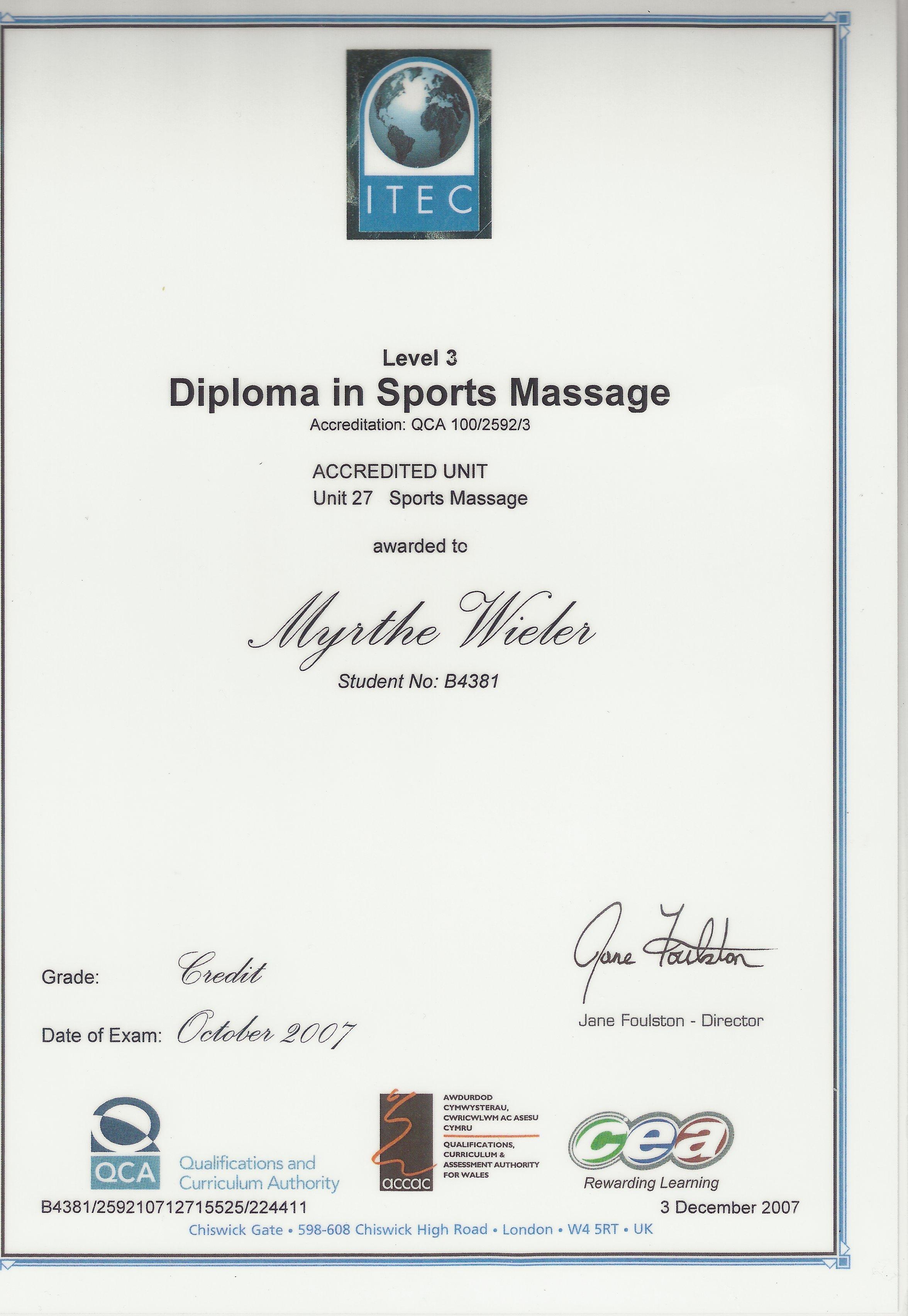 Dip Sports Massage
