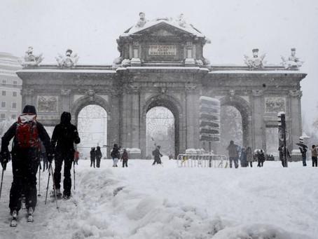 Madrid:  la nevada mas grande en décadas.