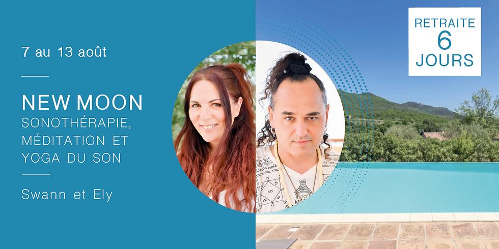 Retraite New Moon · Sonothérapie, méditation et yoga du son · Avec Swann & Ely