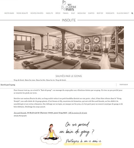 2020 02 Article sur Zen and Sounds dans My Little Paris