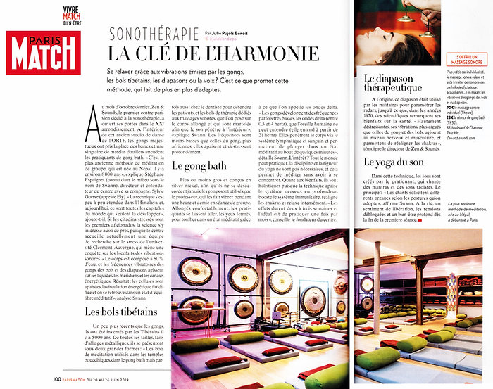 ZEN AND SOUNDS · PARIS MATCH 2019 06