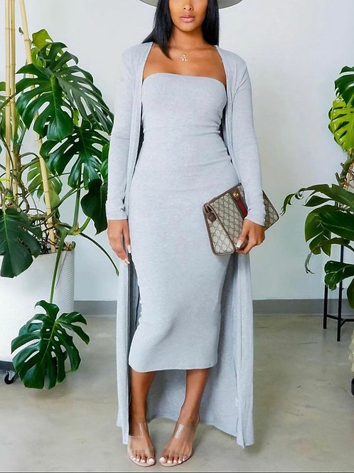 Sheek Two Piece Dress and Coat, S, M, L, XL