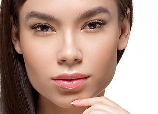 eurasian female face eyelids chin facial contour skin medspa Lisa Hwang plastic surgery