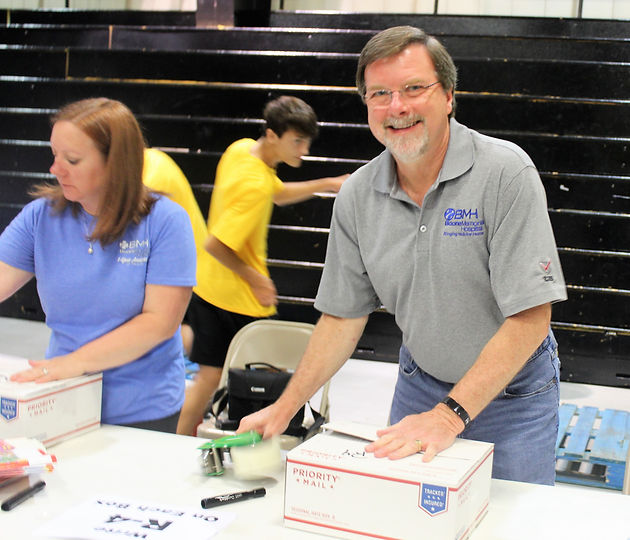 Boone Memorial Hospital employees participate in Backpack