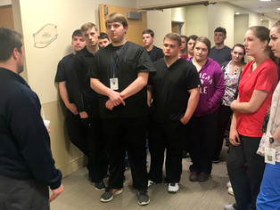 Students from Boone Career and Technical Center tour Boone Memorial