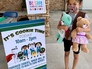 Girl Scouts sell and donate cookies to 'Health Care Heroes' at Boone Memorial Hospital