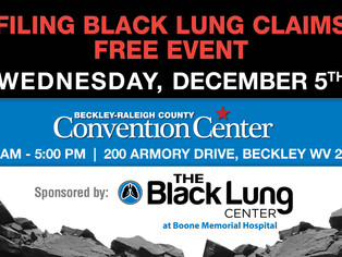 Free Black Lung Event scheduled in Beckley, WV to help miners file Claims