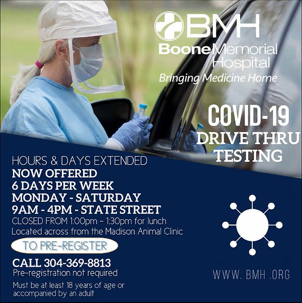 COVID TESTING CLINIC-EXTENDED HOURS, LUN