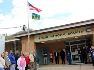 Boone Memorial Hospital Celebrates National Donate Life Month with Flag Raising Ceremony and  Blue &